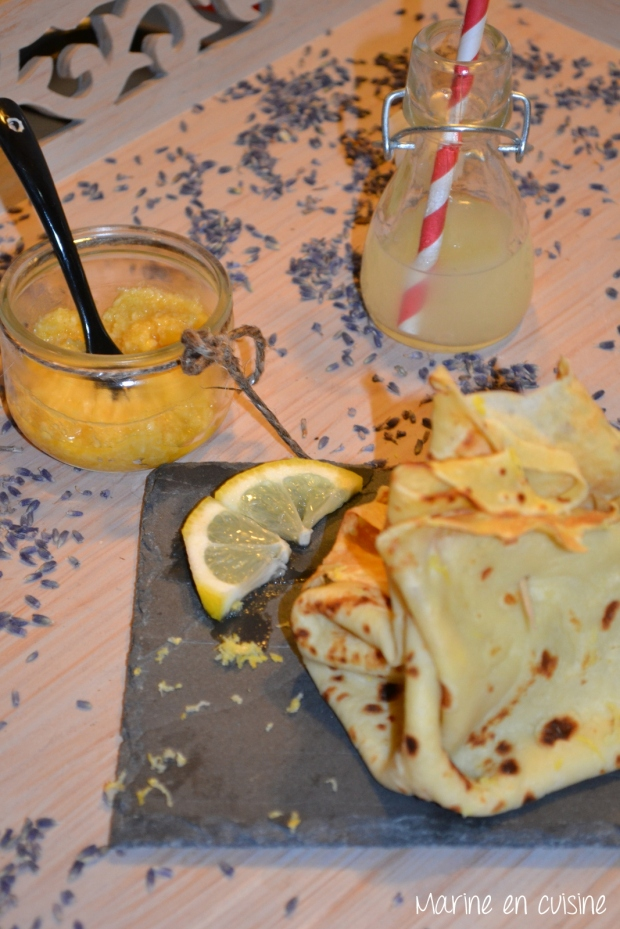 Crêpes crème d'amandes et citron